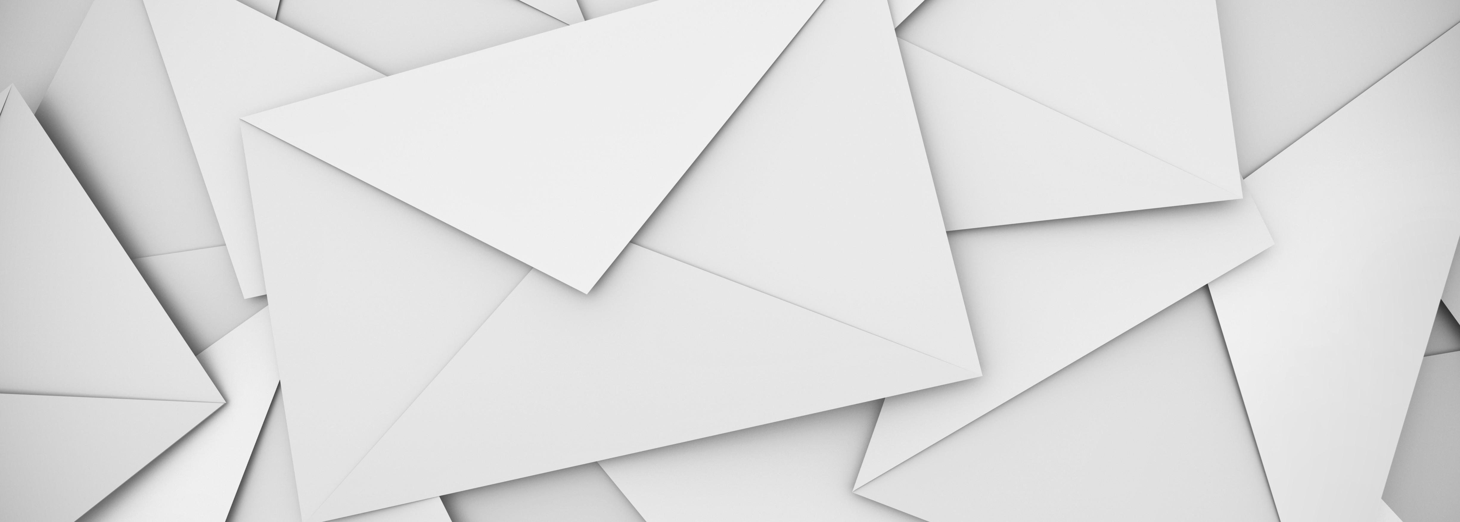 White envelopes background