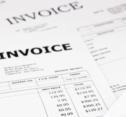 invoices and bills with paid stamp